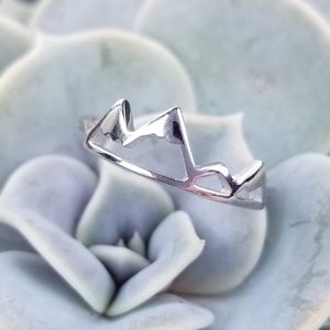 {Take Me To The Mountains Ring} .925 Sterling